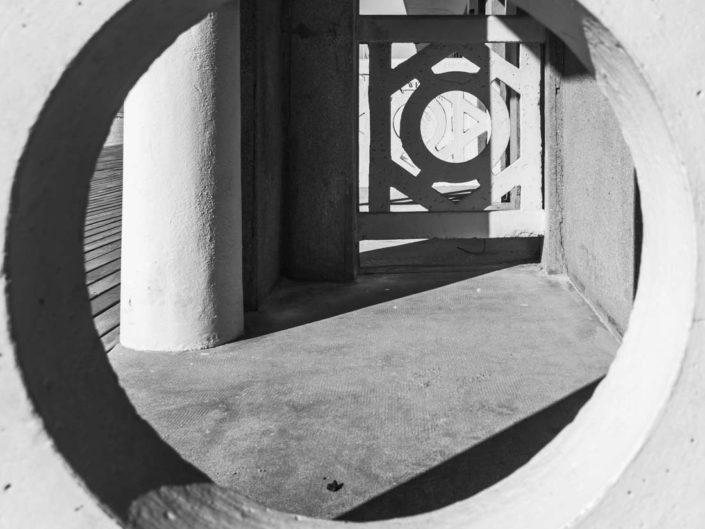 Photo géométrique de Deauville côté plage